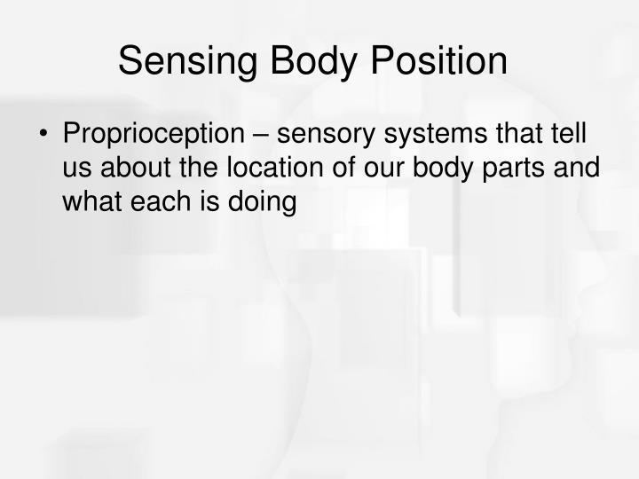 Sensing Body Position