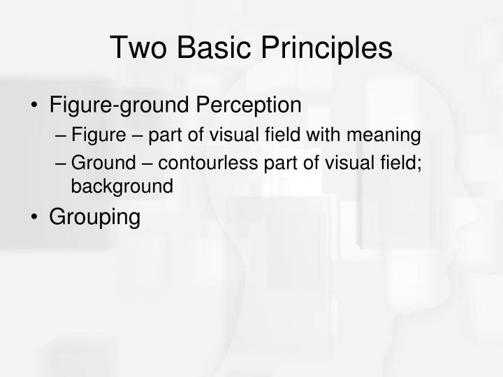 Two Basic Principles
