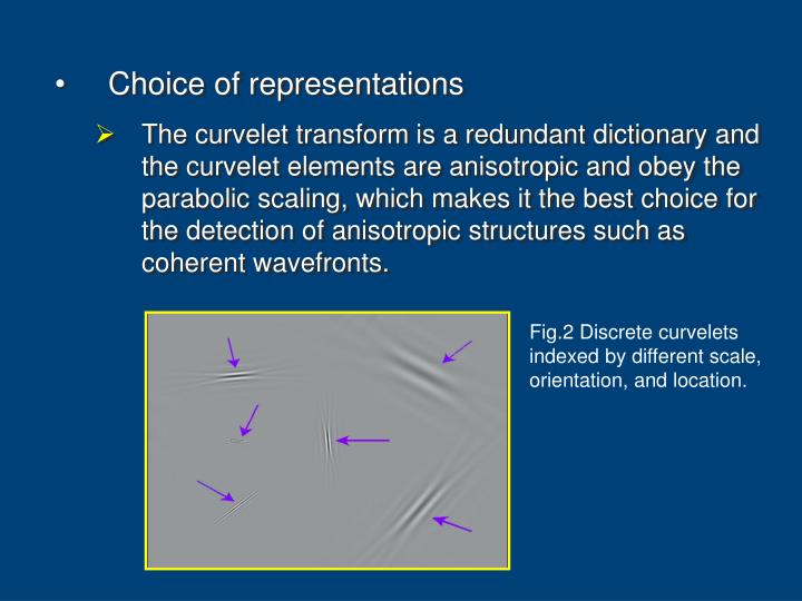 Choice of representations