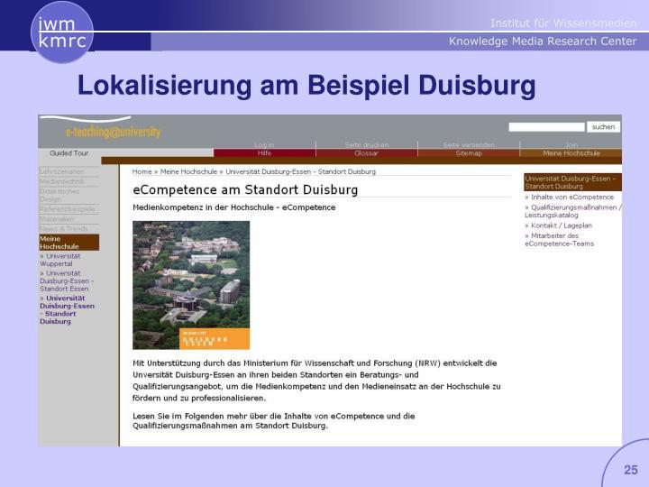 Lokalisierung am Beispiel Duisburg