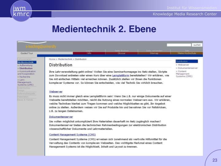 Medientechnik 2. Ebene