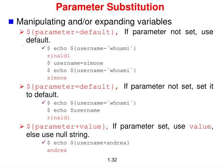 Parameter Substitution