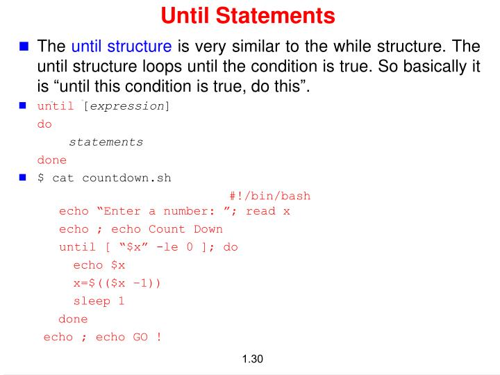 Until Statements