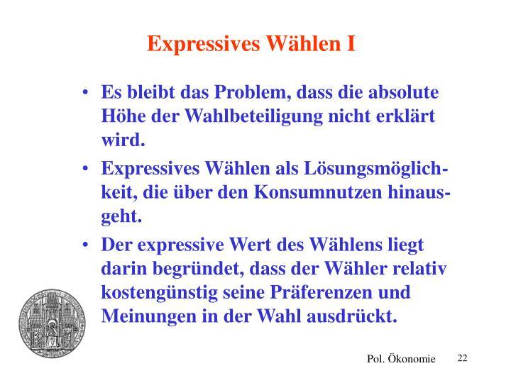 Expressives Wählen I