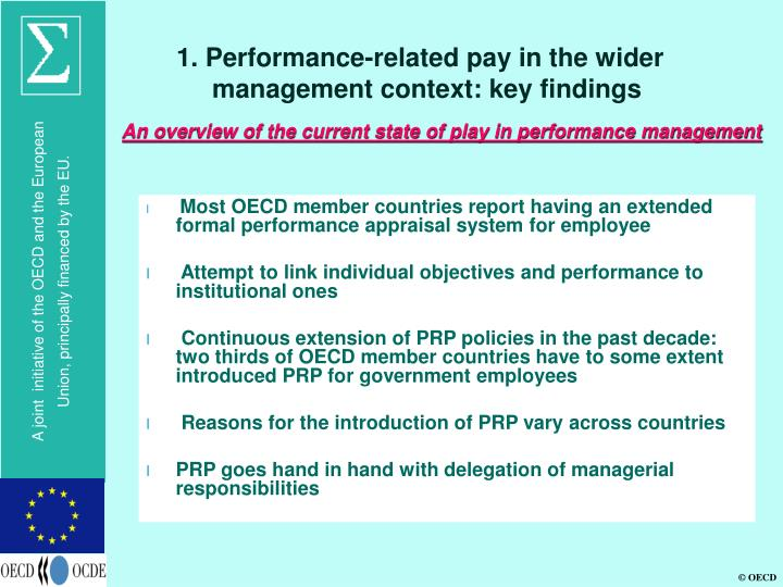 1. Performance-related pay in the wider management context: key findings