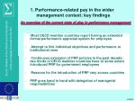 1 performance related pay in the wider management context key findings