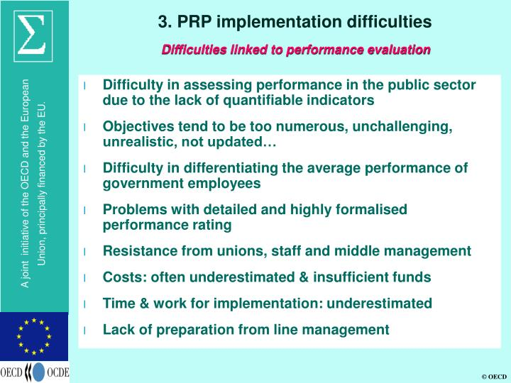 3. PRP implementation difficulties