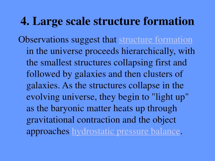 4. Large scale structure formation