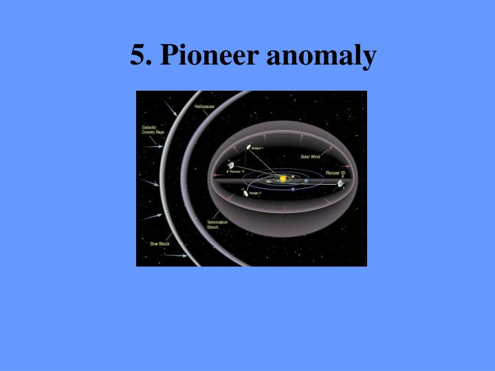 5. Pioneer anomaly