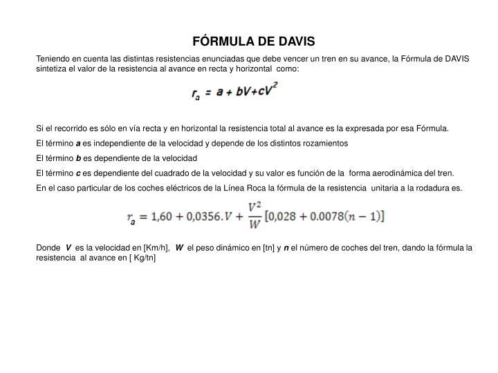 FÓRMULA DE DAVIS