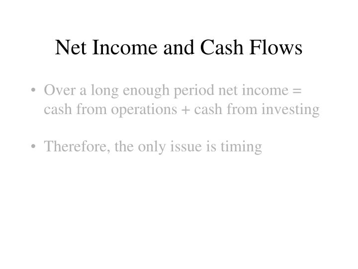 Net Income and Cash Flows