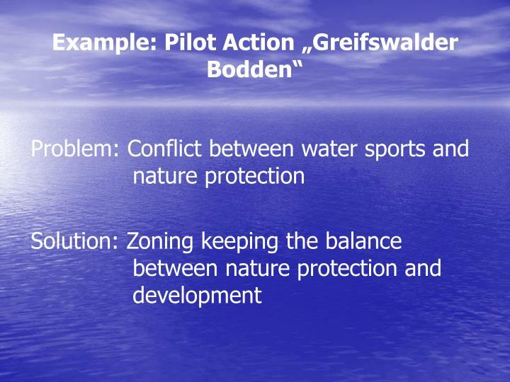 "Example: Pilot Action ""Greifswalder Bodden"""