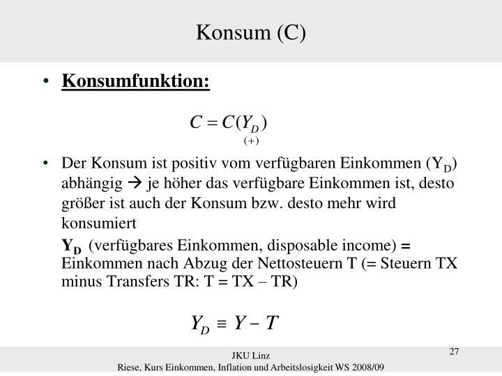 Konsum (C)
