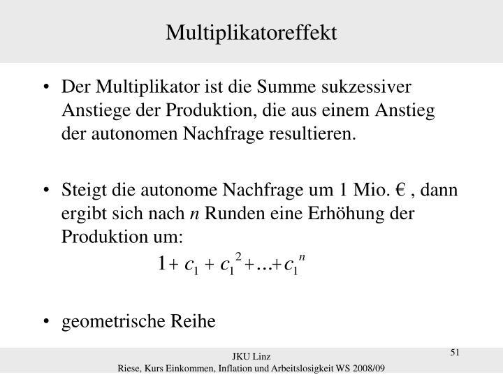 Multiplikatoreffekt