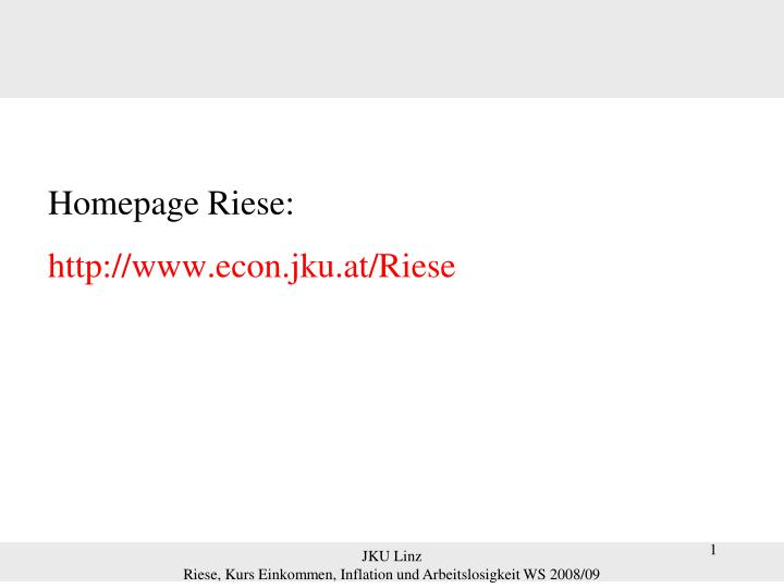 Homepage Riese: