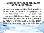4 la primera instrucci n debe darse dentro de la familia