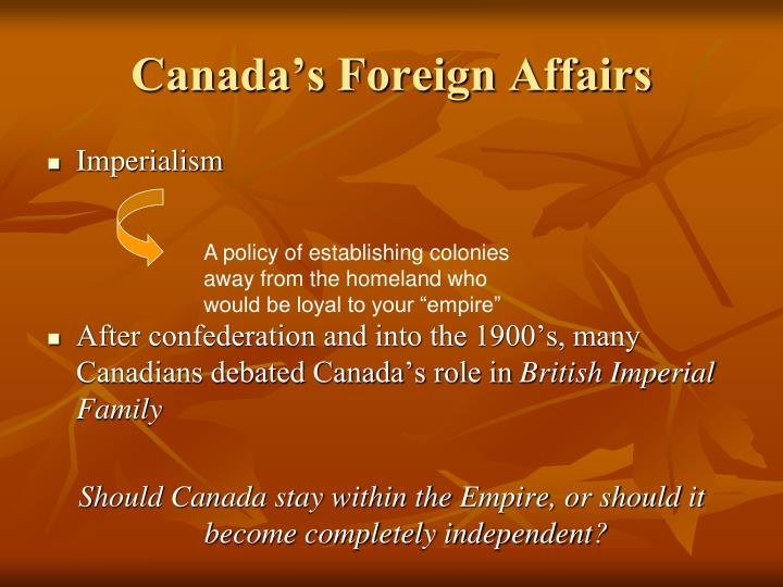Canada s foreign affairs
