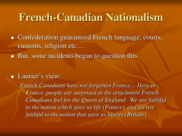 French-Canadian Nationalism