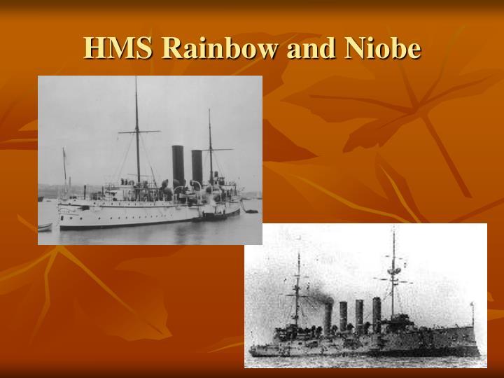 HMS Rainbow and Niobe