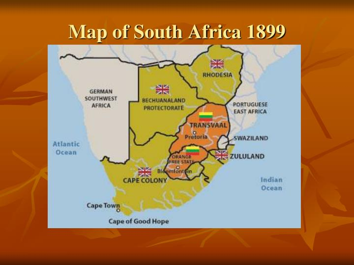 Map of South Africa 1899