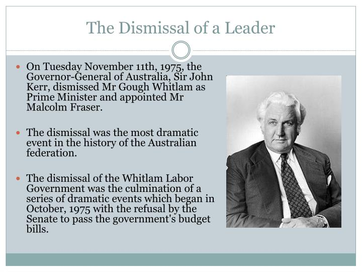 the dismissal whitlam+essay