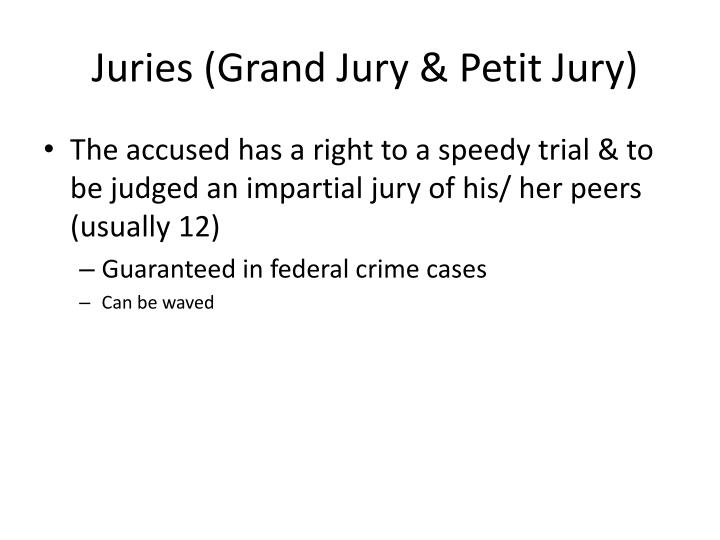 Juries (Grand Jury & Petit Jury)