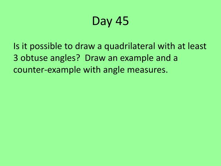 Day 45