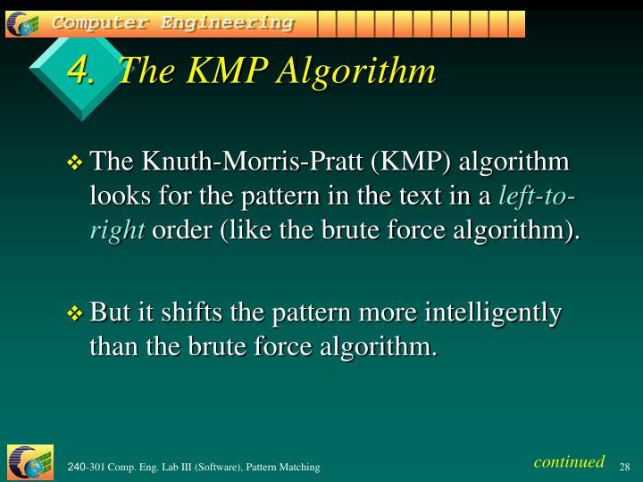 4.  The KMP Algorithm