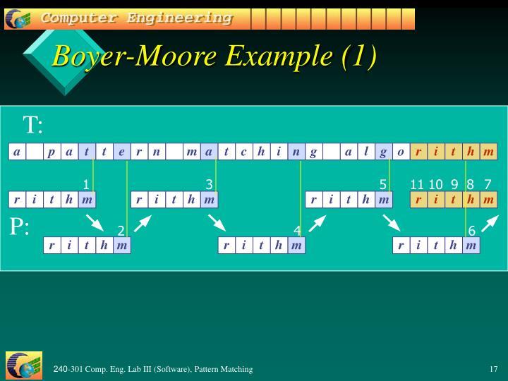 Boyer-Moore Example (1)