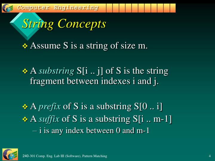 String Concepts