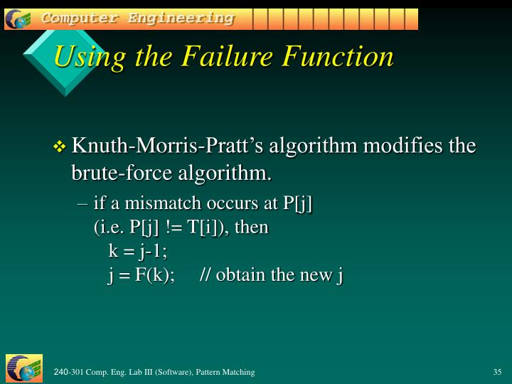 Using the Failure Function