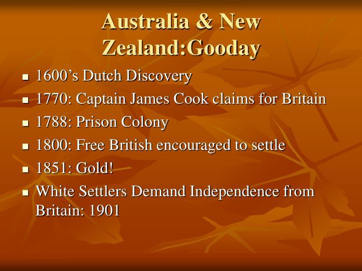 Australia & New Zealand:Gooday