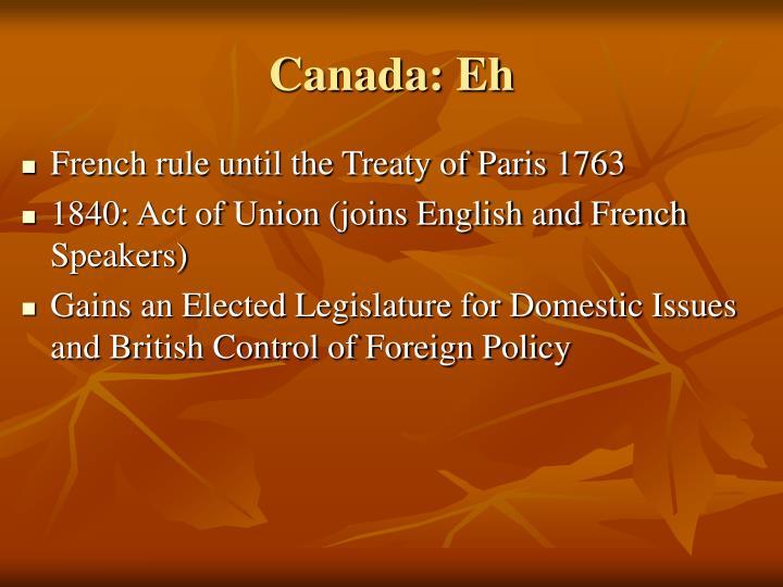 Canada: Eh
