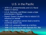 u s in the pacific