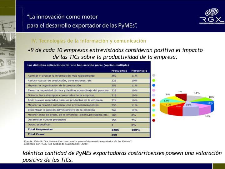 IV. Tecnologías de la información y comunicación