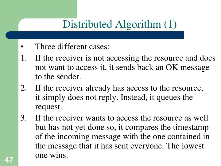 Distributed Algorithm (1)