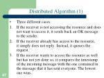 distributed algorithm 1