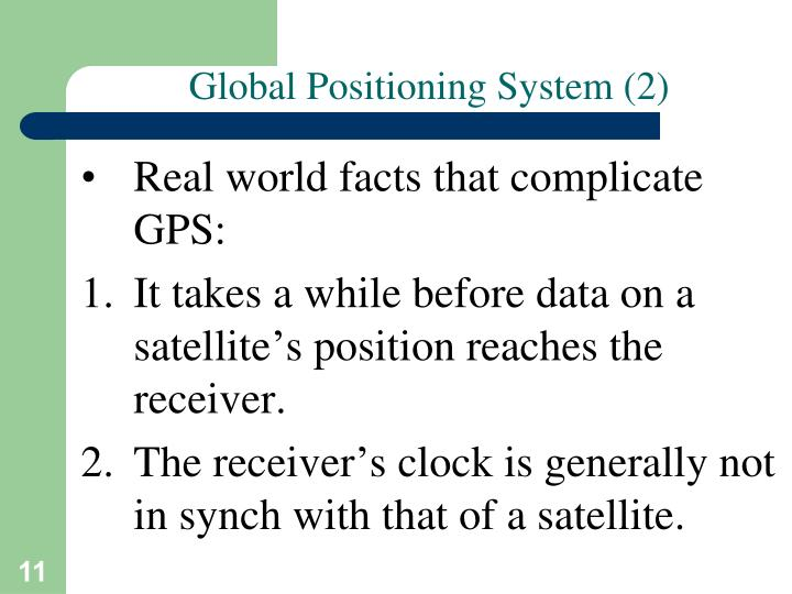 Global Positioning System (2)