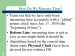 how do we measure time