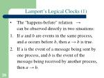 lamport s logical clocks 1