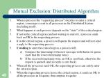 mutual exclusion distributed algorithm