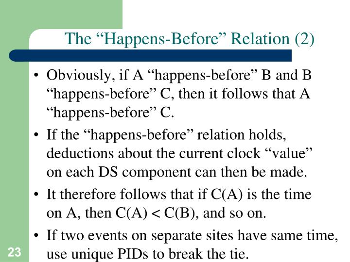 "The ""Happens-Before"" Relation (2)"