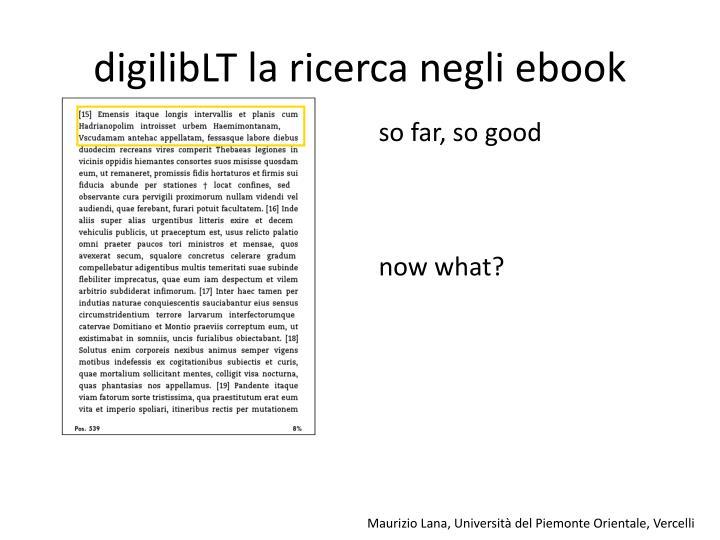 digilibLT la ricerca negli ebook