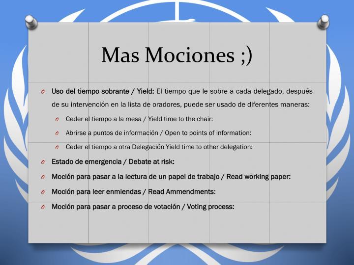 Mas Mociones ;)