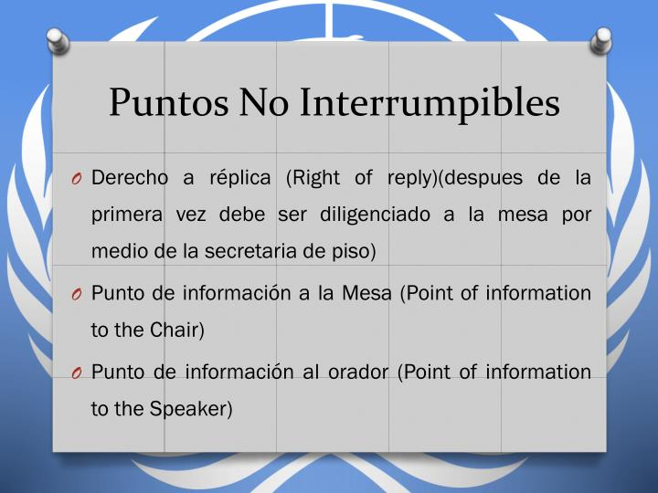 Puntos No Interrumpibles
