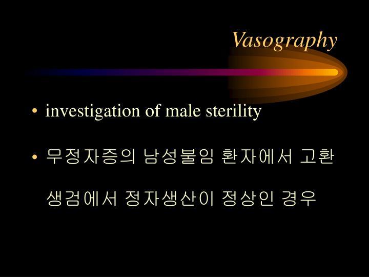 Vasography