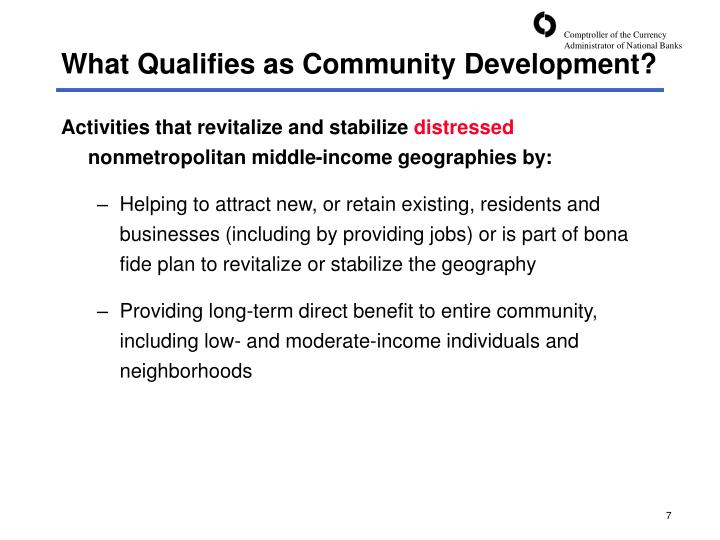 What Qualifies as Community Development?