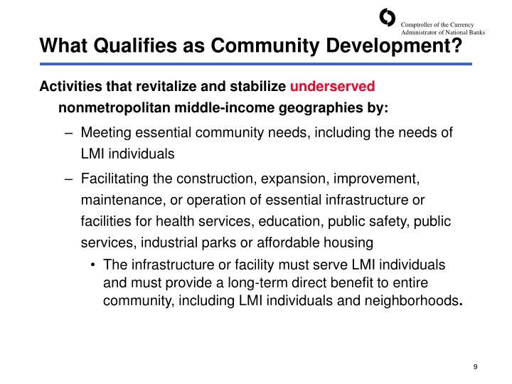 What Qualifies as Community Development?