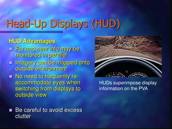 Head-Up Displays (HUD)
