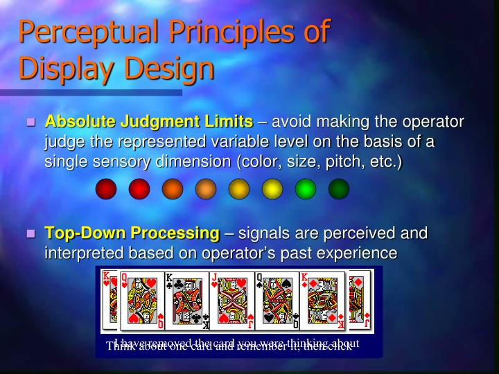 Perceptual principles of display design